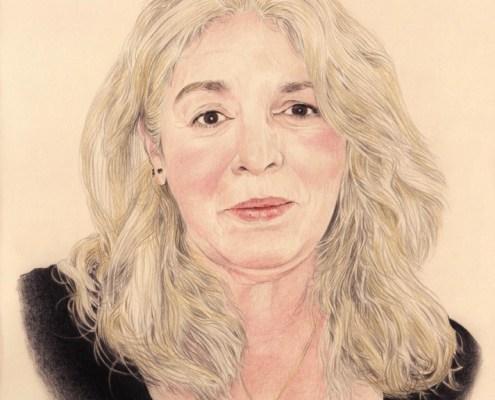 Portrait dessin d'une femme en couleur