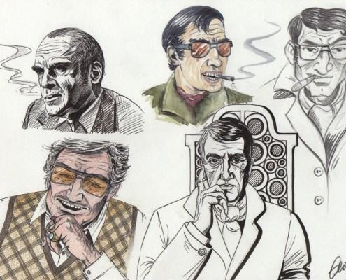 Etude de personnages de BD - planche 1