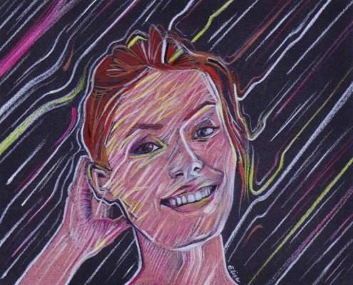 Portrait d'une jeune femme stylisé