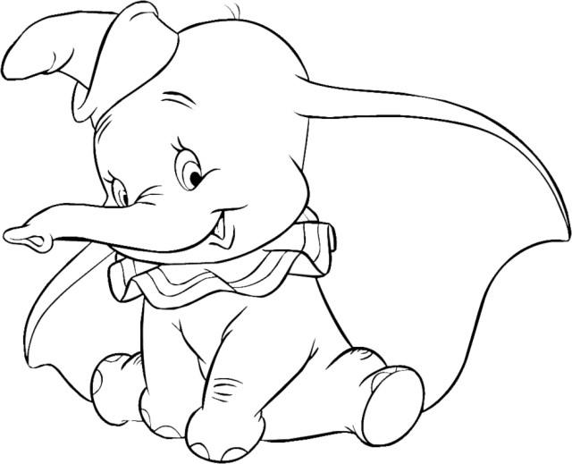 Dessins Gratuits à Colorier - Coloriage Dumbo à imprimer