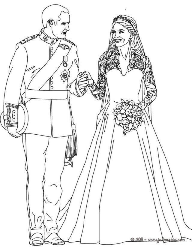 Dessins Gratuits à Colorier - Coloriage Mariage à imprimer