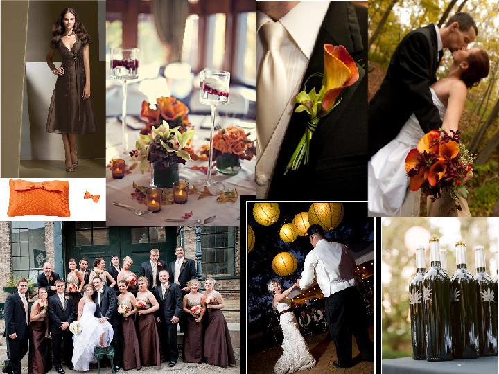 Chocolate And Burnt Orange Wedding PANTONE WEDDING
