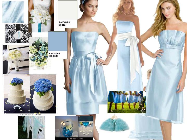 Ice Blue In A Winter Wonderland : PANTONE WEDDING