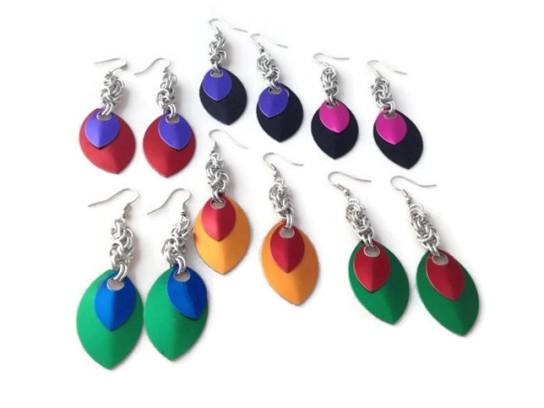 Scalemaille Earrings by Destai