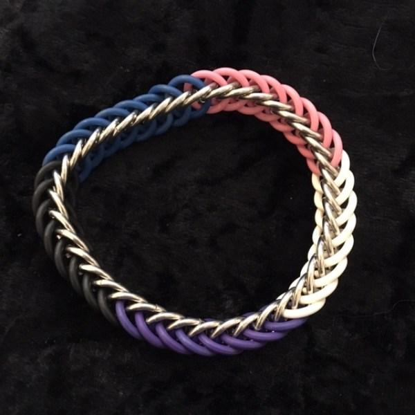 Genderfluid Pride Chainmaille Bracelet by Destai