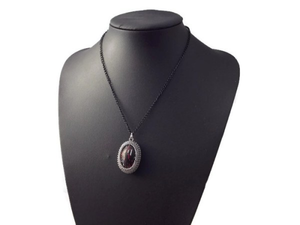 Chainmaille Wrapped Pendant by Destai