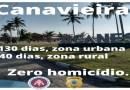 """Canavieiras: """"Mais de 130 dias sem homicídio"""", afirma polícia"""
