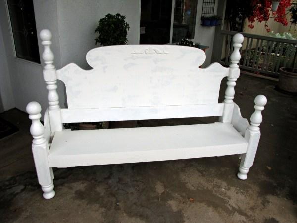 headboard garden bench headboard makeover | destashio