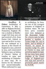 Geoffrey Fisher, il massone che fu presidente del Consiglio Mondiale delle Chiese