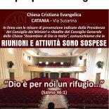 chiesa ADI Catania – La 'casa di Dio' è chiusa per paura contagio
