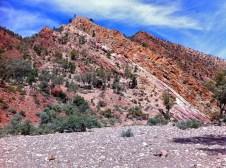 The golden spike, Brachina Gorge, Flinders Ranges