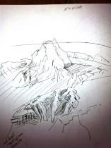 Sketch at Lake Mungo 2