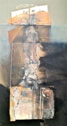 Igneous 1, 2004, oil on canvas, 214x108 cm