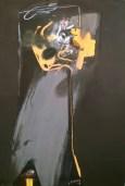 Artwork titled Masked Escarpment 2, 2013, intaglio and gouache 95x66 cm