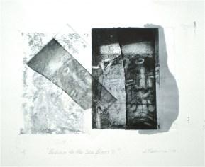 Return to the Sea Floor 2, 2010, intaglio and wash 16x20 cm print, 35x50 cm paper