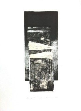Downward Drift, 2014, 50x35 cm, intaglio and chine-colle.