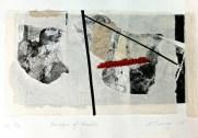 Passage of Rocks, 2015, etching collage, 15x27 cm print, 20x30 cm paper
