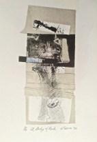'A body of Rock', 2016, intaglio print, ink and graphite, 28x14 cm