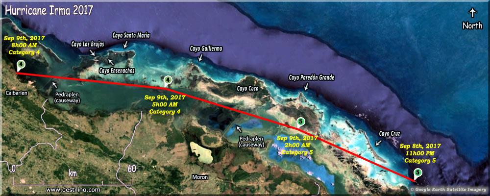 Hurricane Irma 2017 Cayos De Villa Clara Cuba