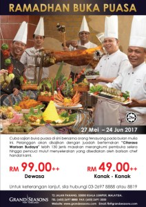 Ramadhan Buffet 2017 di Hotel Grand Seasons