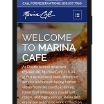 Marina Cafe Mobile Website
