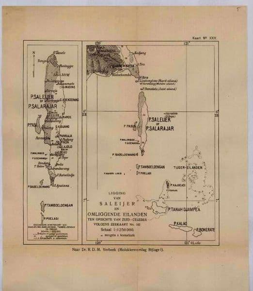 Peta Kuno Pulau Selayar