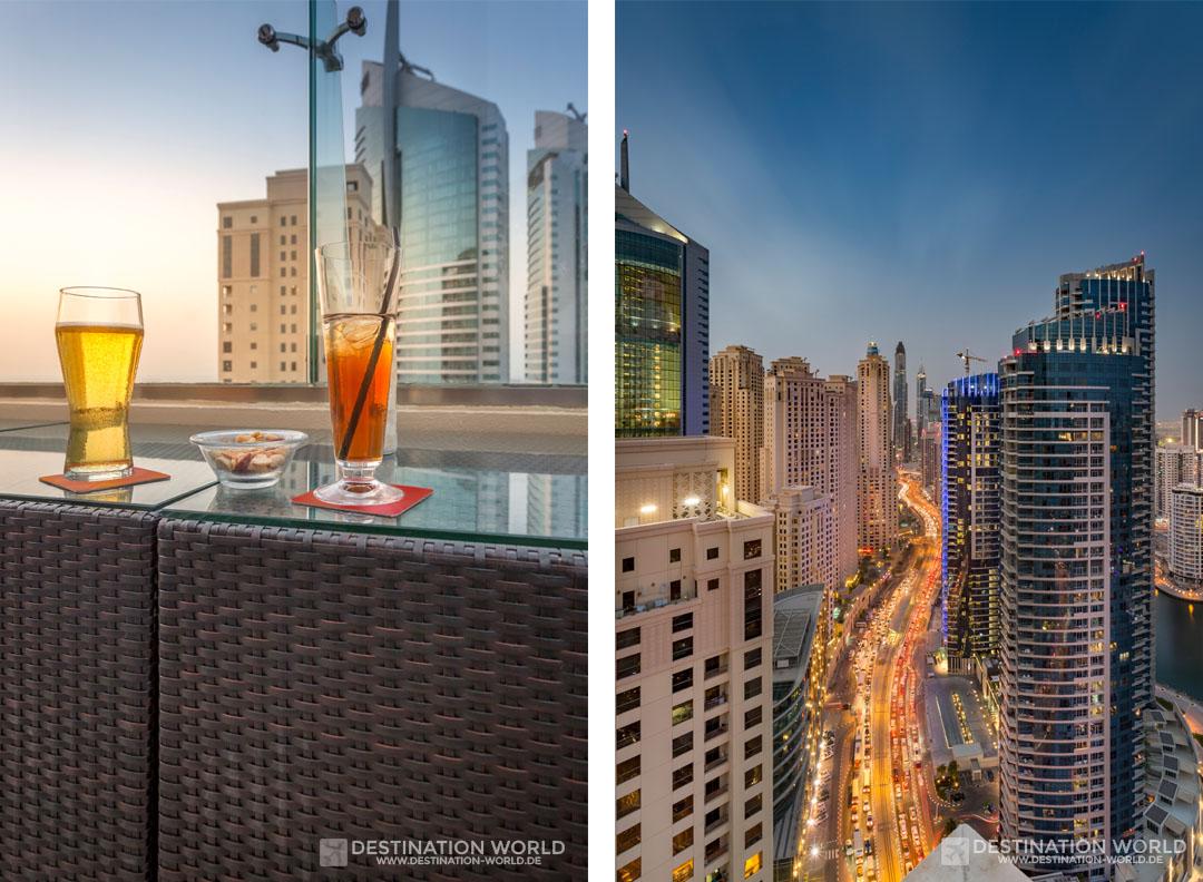 In einer Rooftop Bar den Abend ausklingen lassen
