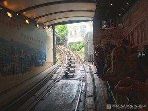 Talstation der Peak Tram