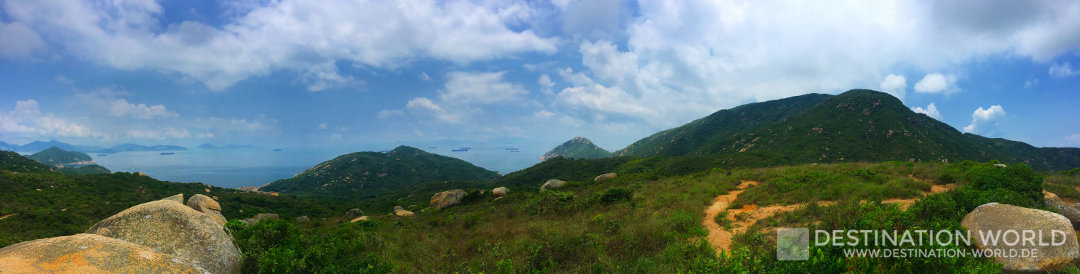 Blick über die Insel Lamma