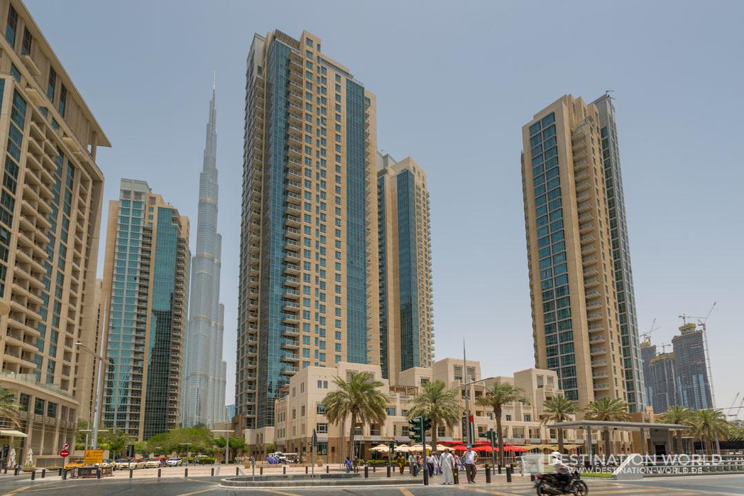 Hochhäuser am Sheikh Mohammed bin Rashid Boulevard