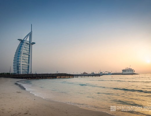 Burj Al Arab zum Sonnenuntergang