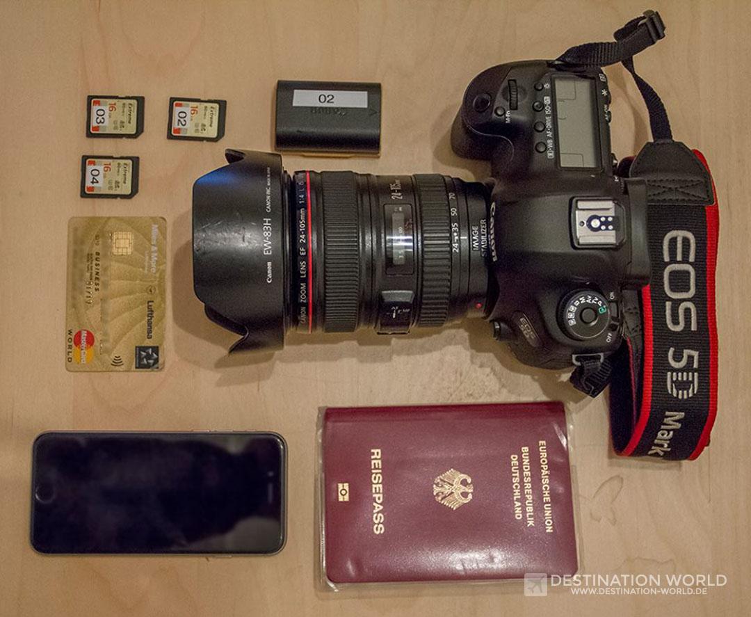 Minimales Reisegepäck