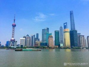 Die weltbekannte Skyline von Shanghai