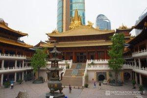Der Jing'an Temple an der Nanjing Lu