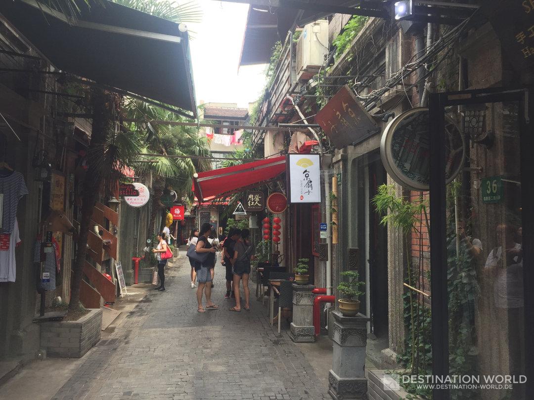 Die kleinen Gassen von Tianzifang in Shanghai