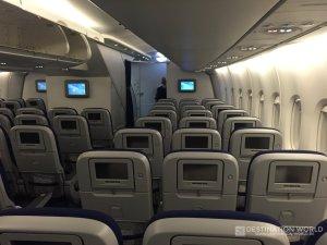 Kabine des Lufthansa A380 economy class