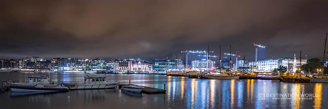 Blick über den Hafen Richtung Aker Brygge