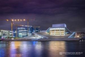 Oslo Oper bei Nacht
