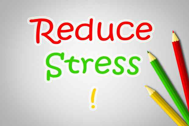 Reduce Stress Concept text on background