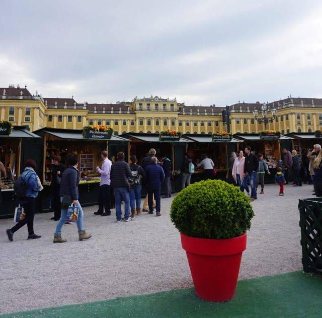 Easter market Schönbrunn Castle Vienna
