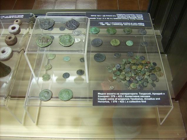 Монети на императорите Теодосий, Аркадий и Хонорий /379-423 г./