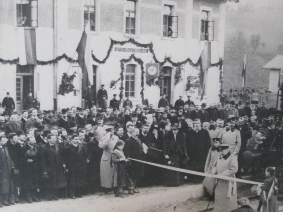 Откриване на гарата в Царева ливада от цар Фердинанд I