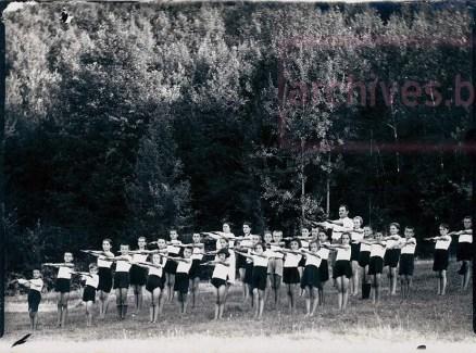 Царева ливада, 1939 г. - ученици от основно училище Митрополит Панарет, Велико Търново
