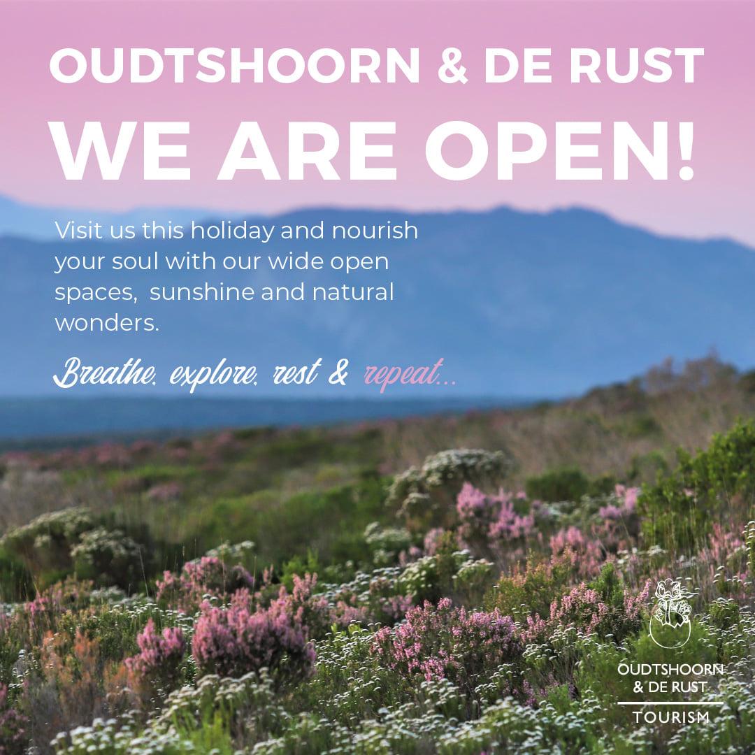 Destination Garden Route - Oudtshoorn & De Rust are open!