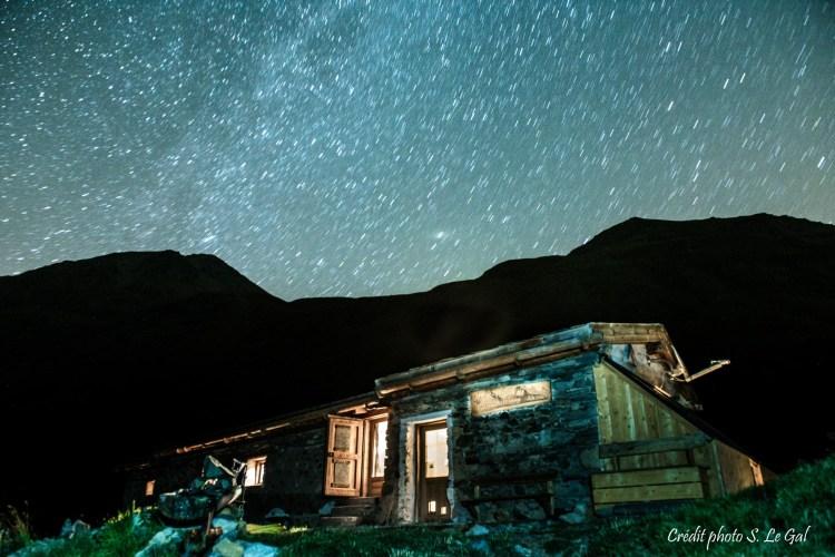 Refuge de Chamoissière de nuit