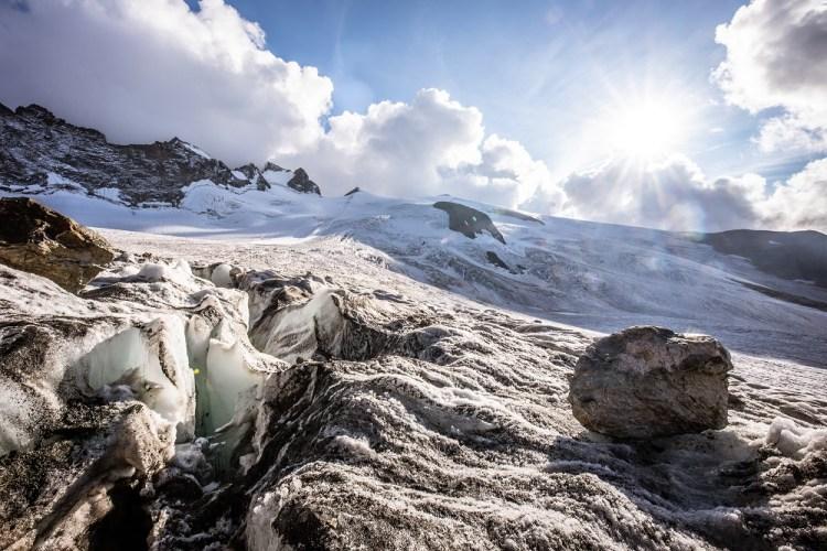 Crevasses, Glacier de la Girose