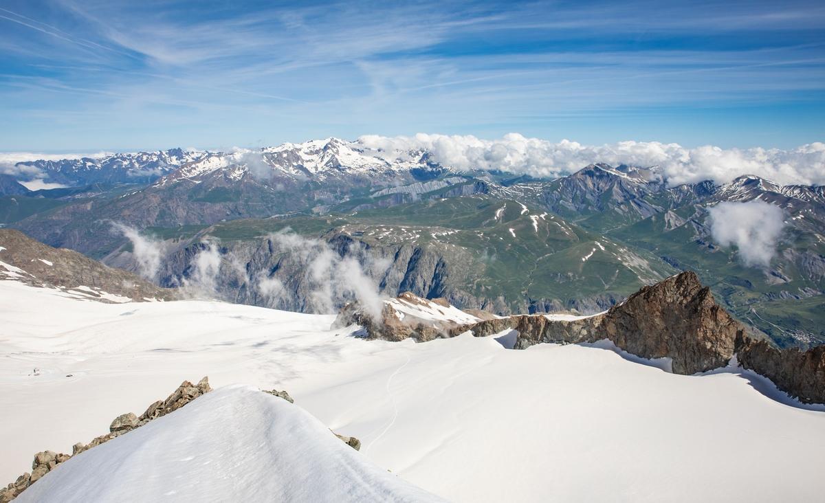 Vue des glaciers La Grave La Meije