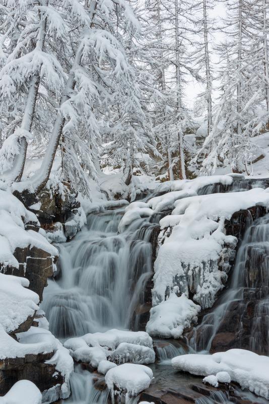 Névache cascade de Fontcouverte Clarée