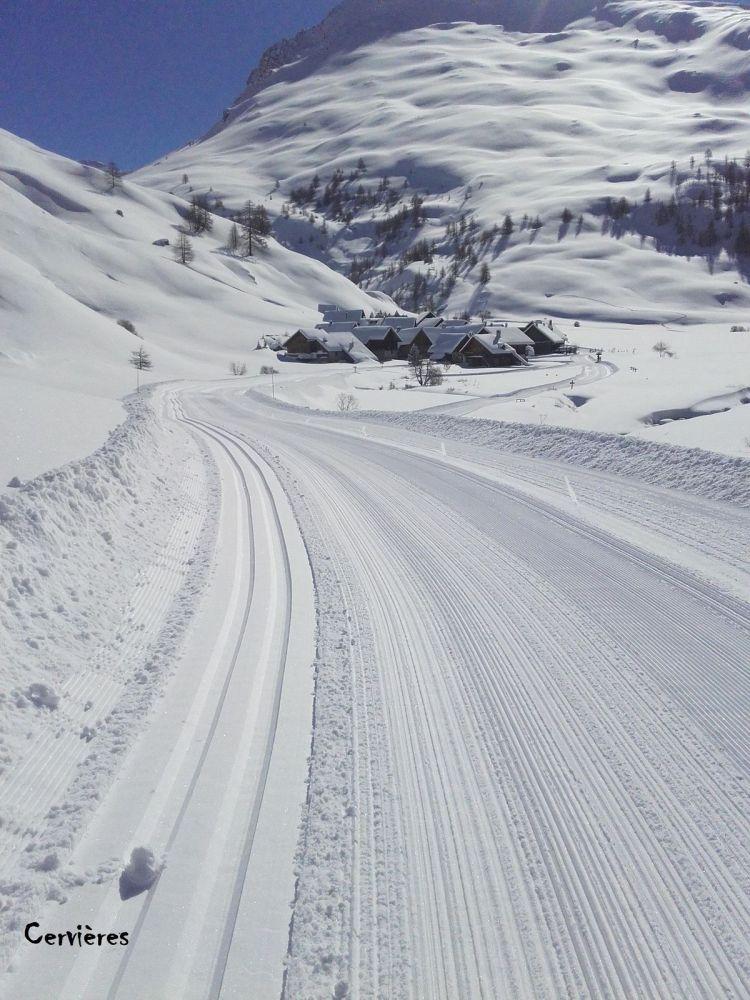 Piste ski de fond Cervières les Fonts