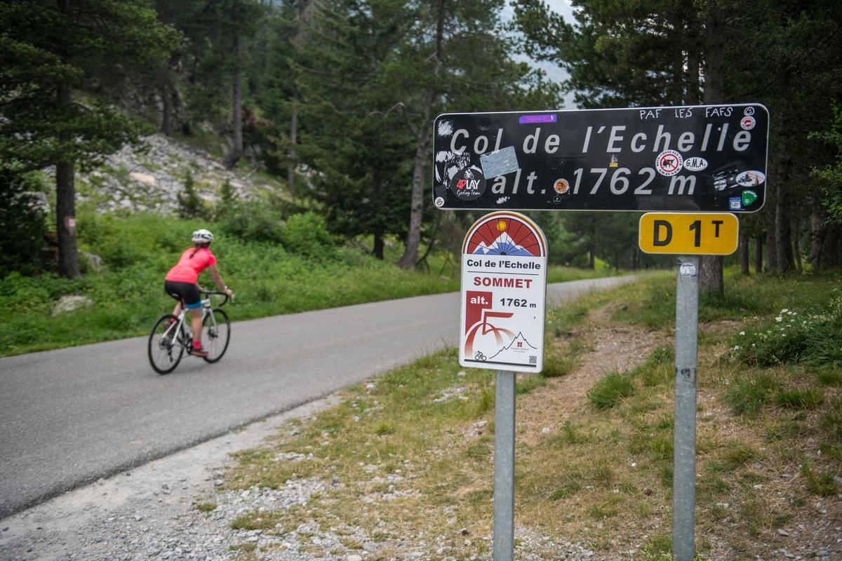 Col de l'Échelle à vélo